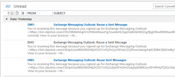 3 line preview in outlook 2013