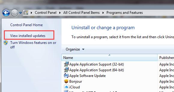 check installed updates