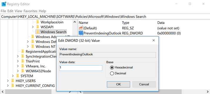Outlook Search fails to find messages