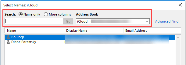 iCloud Contacts are not showing in Address Book