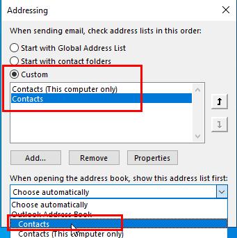 set iCloud as the address book