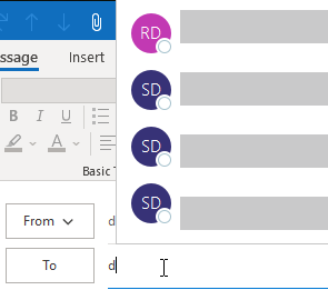Outlook Autocomplete Bug