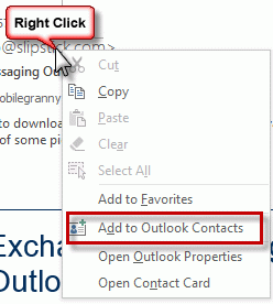 Add to contacts