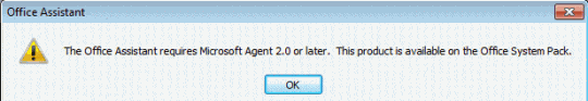 Microsoft Agent Error