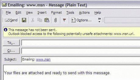Send Links by E-mail in Windows XP