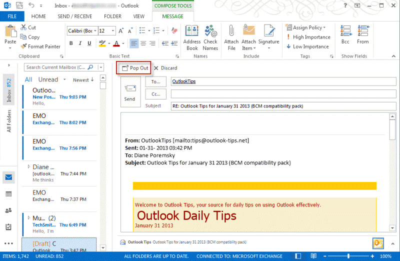 Tip 1062 Inserting A Picture In An Outlook 2013 Email