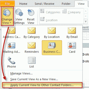 Open the Current view menu