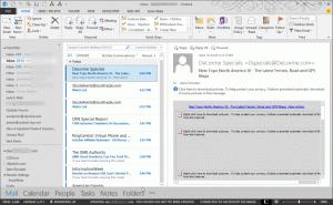 Dark gray theme in Outlook 2013