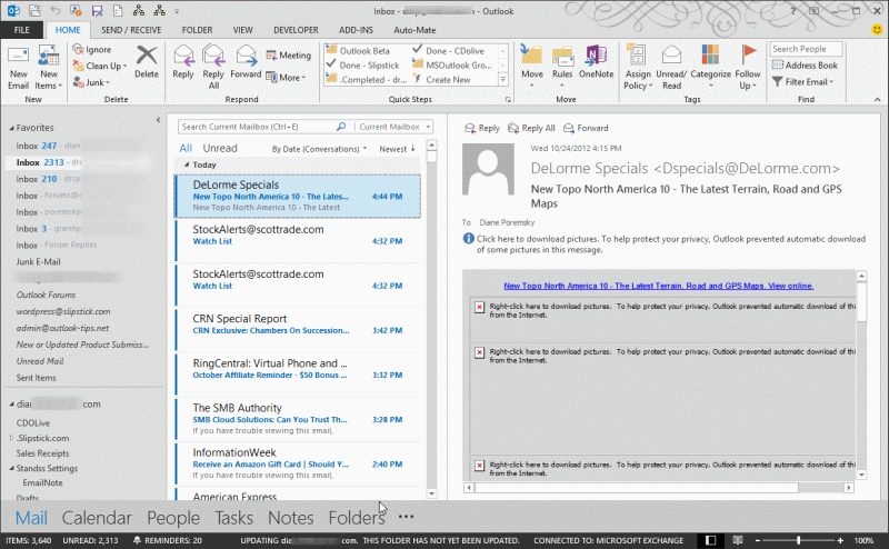 Tip 1036: Outlook 2013's 50 shades of gray - Outlook Tips