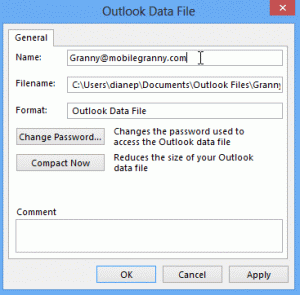 Change data file name