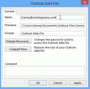 Change data file name