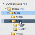 drag folders to another folder, then delete