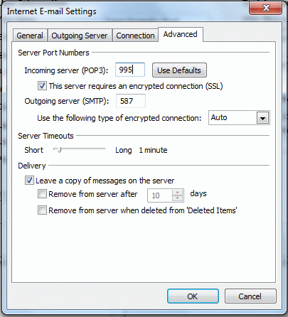 Hotmail SMTP configuration | smtp mail server