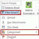 Tip 1079: Filtering Outlook emails by color