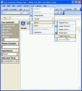 Form Designer menu