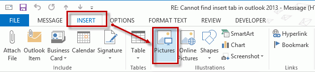 how to add picture to outlook email 2013