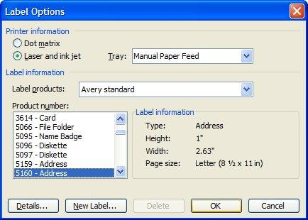 Creating a Mail Merge to Labels in Microsoft Outlook