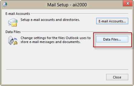 Click Data Files button