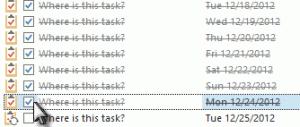 mark tasks complete
