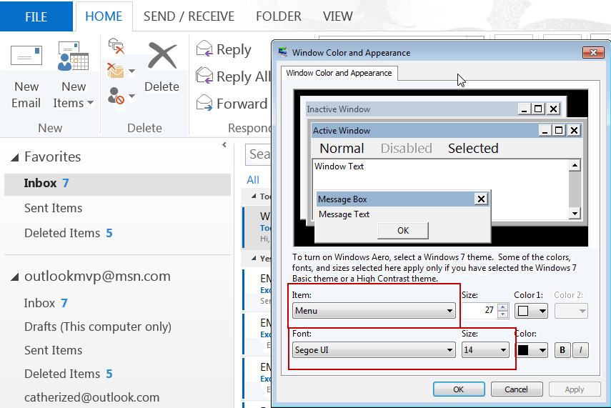 Tip 1068: Change the size of the font in Outlook's Folder list