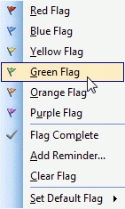 Outlook 2003 flag colors are limited to 6 basic colors