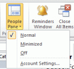 Tip 1086: Outlook People Pane is missing