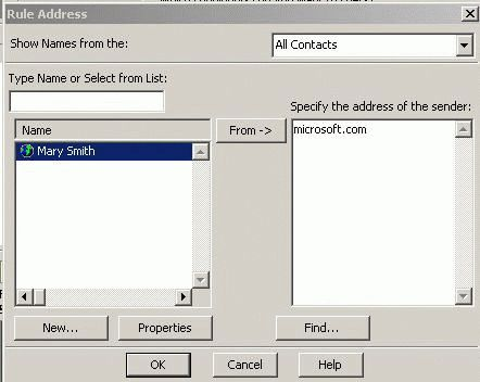 Create rules in Outlook 2002 and older