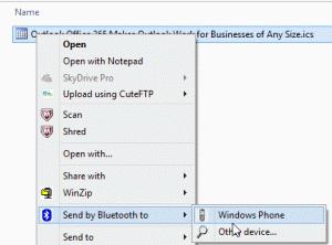 Send by Bluetooth