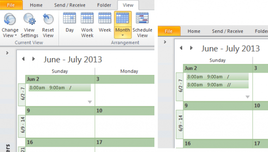 Show more appointments in the month view