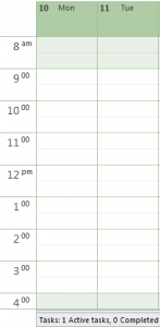 time scales in outlook