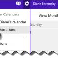 Deselect calendar to hide it