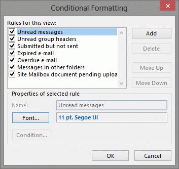 Unread message formatting