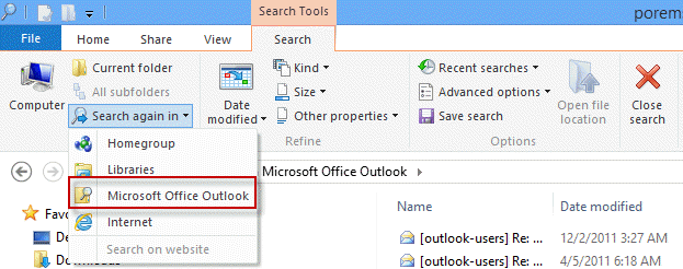 Tip 1039: Searching Outlook in Windows 8