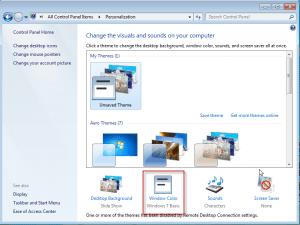 Select Windows Color